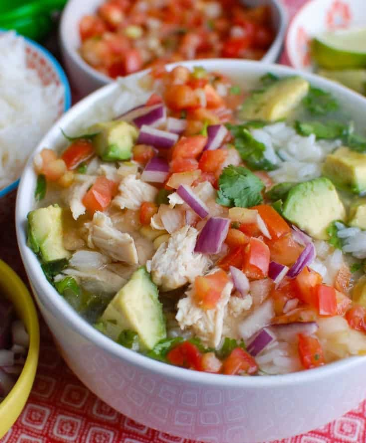 Slow Cooker Mexican Chicken Lime Soup