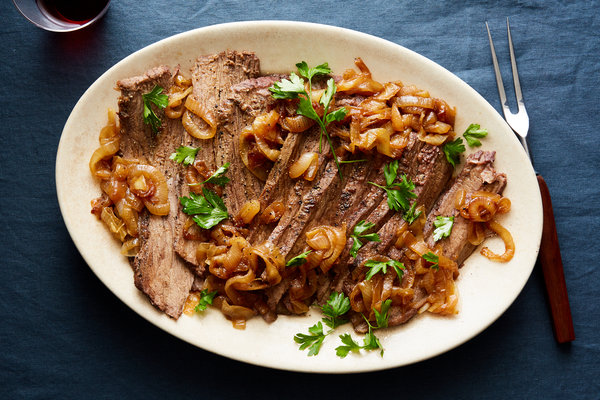 Classic Beef Brisket With Caramelized Onions