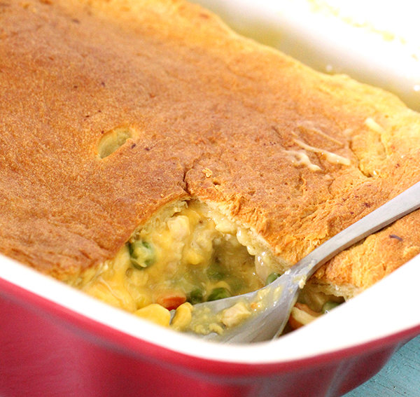 Cheesy Chicken Pot Pie with Only 5 Ingredients
