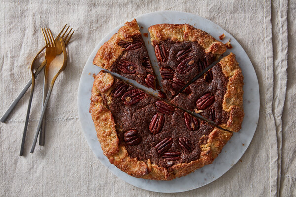 Maple-Pecan Galette With Fresh Ginger